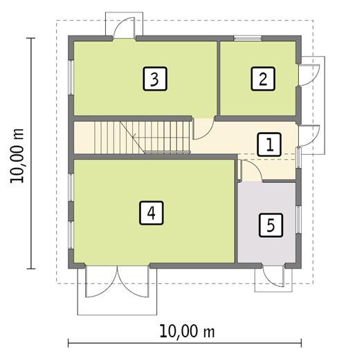 Rzut parteru lustro POW. 84,1 m²