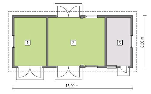 Rzut parteru POW. 83,6 m²