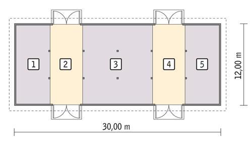Rzut parteru POW. 339,3 m²