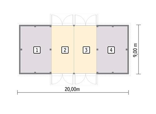 Rzut parteru POW. 162,3 m²