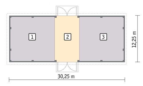 Rzut parteru POW. 347,8 m²