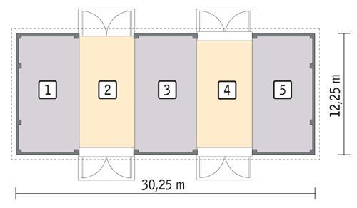 Rzut parteru POW. 350,8 m²
