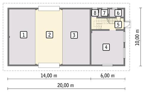 Rzut parteru POW. 180,3 m²