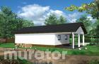IGC22 Budynek inwentarsko-gospodarczy z wiatą garażową