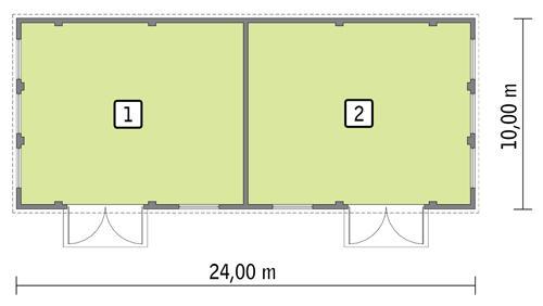 Rzut parteru POW. 219,7 m²