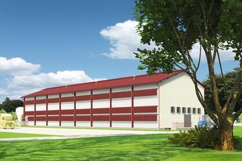 Kurnik dla 26400 niosek, w systemie klatkowym, w technologii stalowej