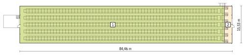 Rzut przyziemia POW. 1 232,0 m²