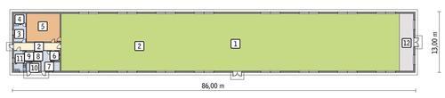 Rzut przyziemia POW. 1 035,9 m²