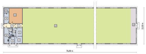 Rzut parteru POW. 1 096,4 m²