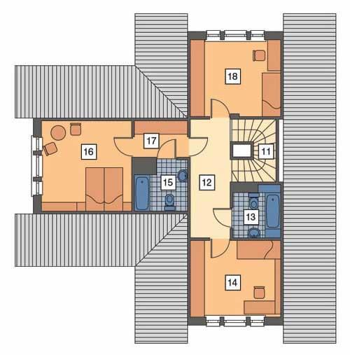 Rzut poddasza POW. 69,4 m²