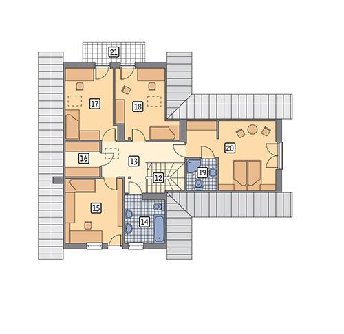 Rzut poddasza POW. 99,3 m²