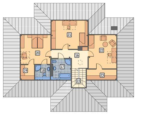 Rzut poddasza POW. 97,6 m²