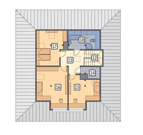 Rzut poddasza POW. 86,2 m²
