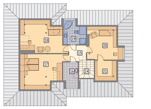 Rzut poddasza POW. 101,3 m²