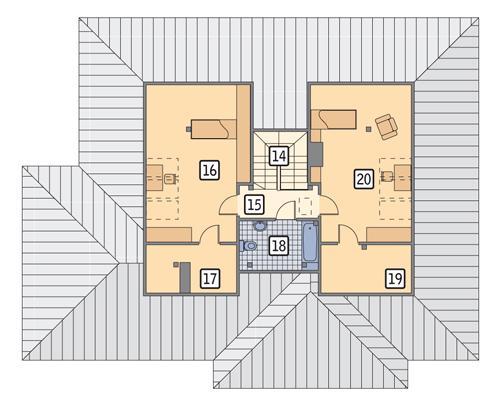 Rzut poddasza POW. 86,4 m²