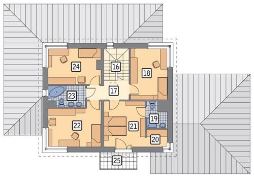 Rzut piętra POW. 83,0 m²