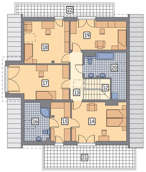 Rzut poddasza POW. 146,6 m²