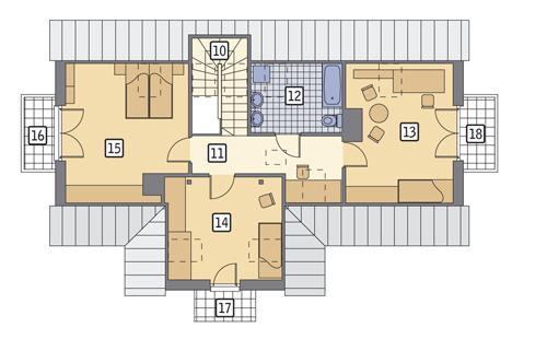 Rzut poddasza POW. 81,5 m²