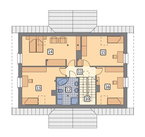 Rzut poddasza POW. 91,7 m²
