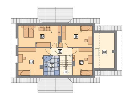 Rzut poddasza POW. 110,3 m²