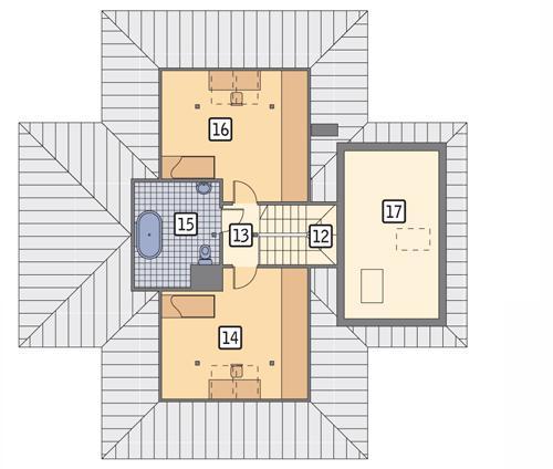 Rzut poddasza POW. 83,7 m²
