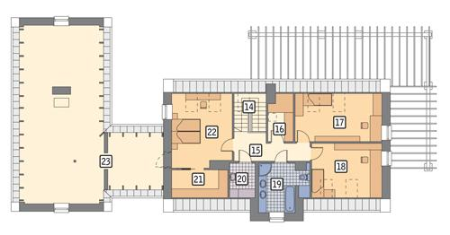 Rzut poddasza POW. 188,3 m²
