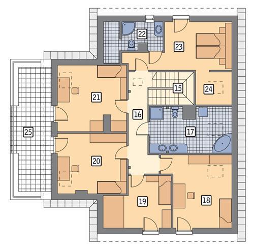 Rzut poddasza POW. 148,8 m²
