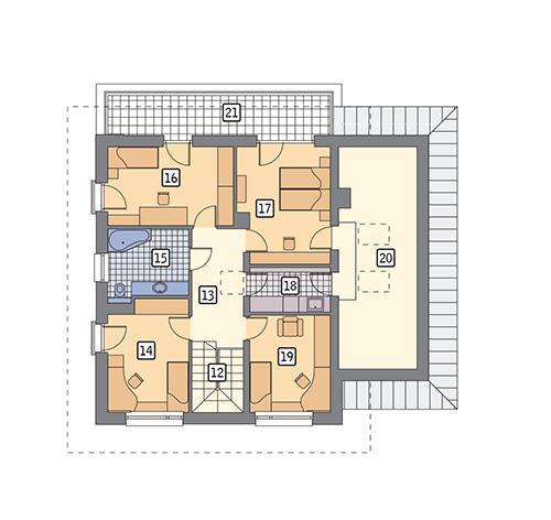 Rzut piętra POW. 122,5 m²
