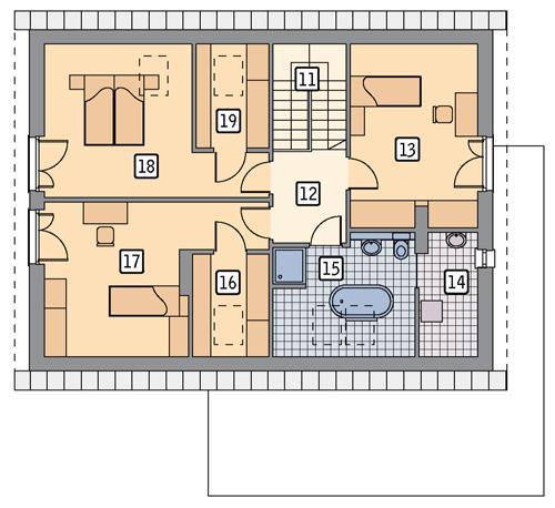 Rzut poddasza POW. 94,5 m²