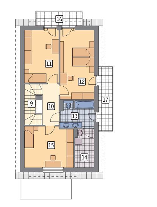 Rzut poddasza POW. 81,8 m²