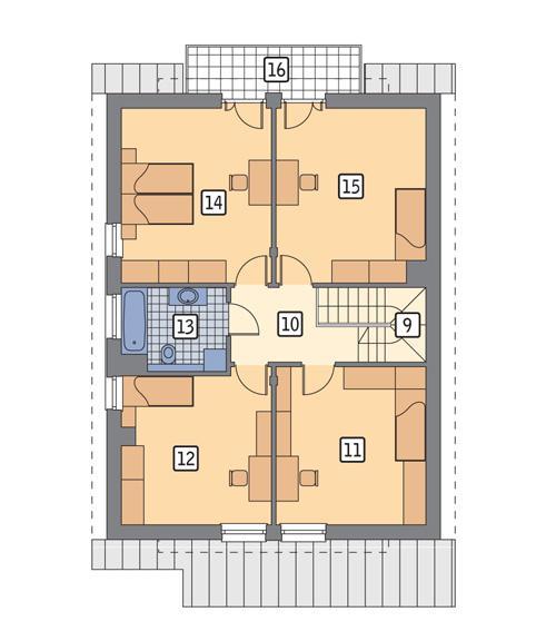 Rzut poddasza POW. 91,5 m²