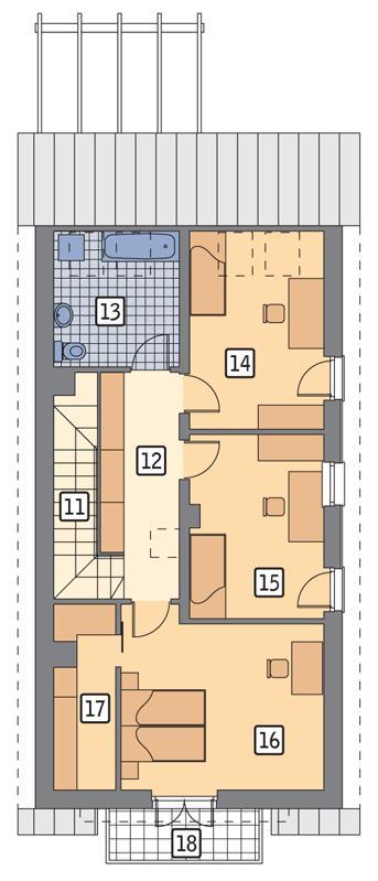 Rzut poddasza POW. 76,5 m²