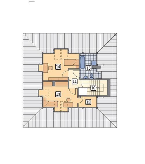 Rzut poddasza POW. 49,6 m²
