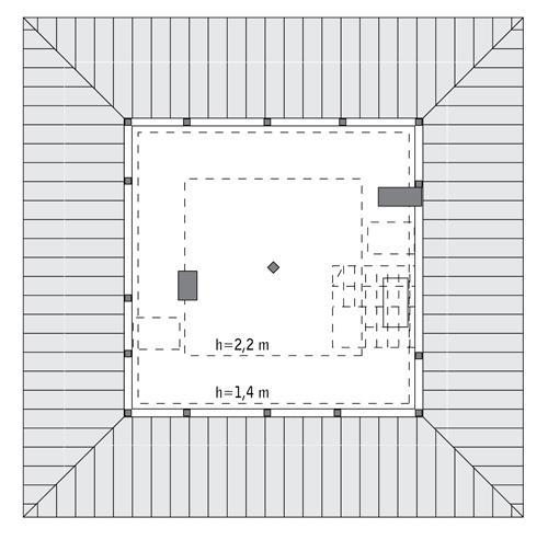 Rzut poddasza: Do indywidualnej adaptacji (31,0 m2 powierzchni użytkowej)