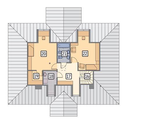 Rzut poddasza POW. 63,4 m²