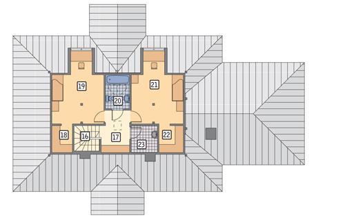 Rzut poddasza POW. 59,7 m²