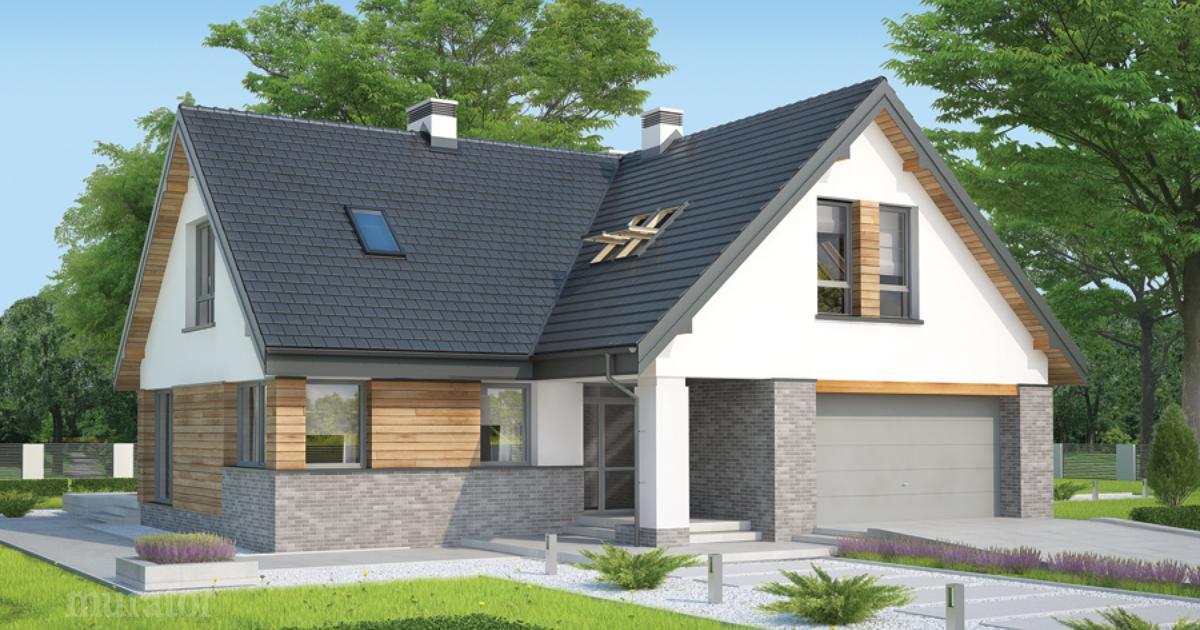 Projekt Domu M162 Niebieskie Migdały Murator Projekty