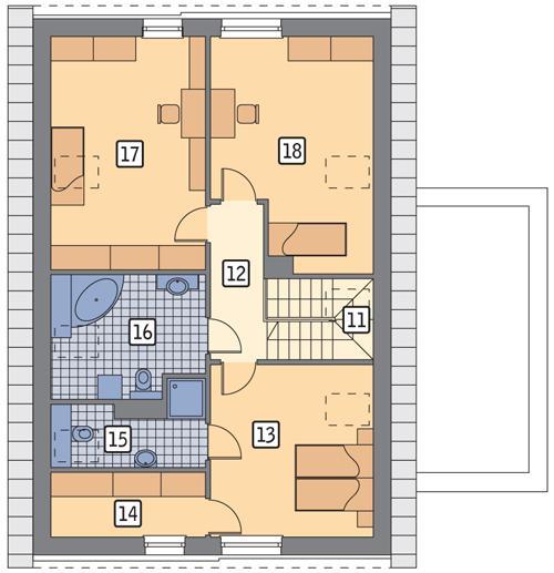 Rzut poddasza POW. 91,9 m²