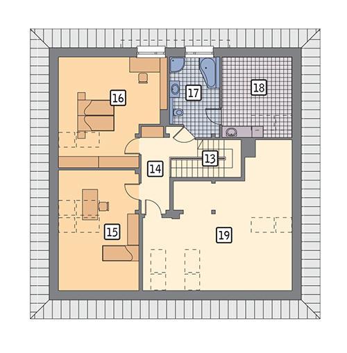 Rzut poddasza POW. 144,1 m²