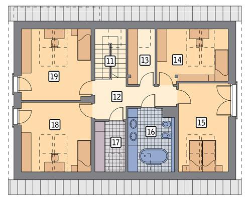 Rzut poddasza POW. 103,4 m²