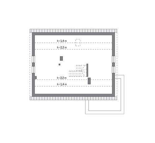 Rzut poddasza: do indywidualnej adaptacji (83,8 m2 powierzchni użytkowej)