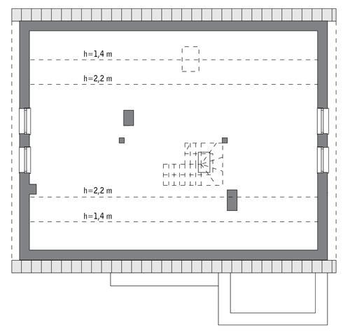 Rzut poddasza: do indywidualnej adaptacji (83,9 m2 powierzchni użytkowej)