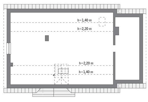 Rzut poddasza: do indywidualnej adaptacji (81,7 m2 powierzchni użytkowej)