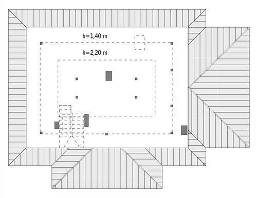 Rzut poddasza: do indywidualnej adaptacji (51,7 m2 powierzchni użytkowej)