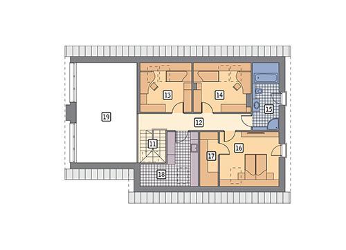 Rzut poddasza POW. 91,3 m²