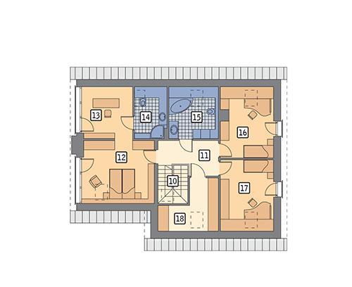 Rzut poddasza POW. 100,5 m²
