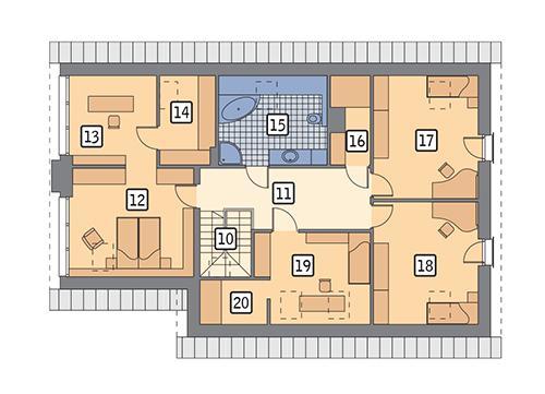 Rzut poddasza POW. 124,9 m²