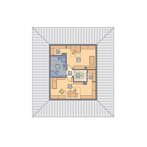 Rzut poddasza POW. 68,8 m²