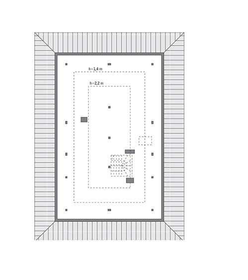 Rzut poddasza: do indywidualnej adaptacji (60,6 m2 powierzchni użytkowej)