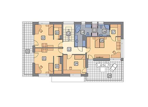 Rzut piętra POW. 149,5 m²